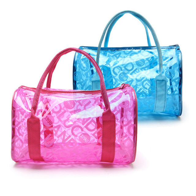 3a557818d906 Women Swimming Bag Waterproof Handbags Transparent PVC Plastic Pool Beach  Bags Organizer Sack Swimsuit Letter Print