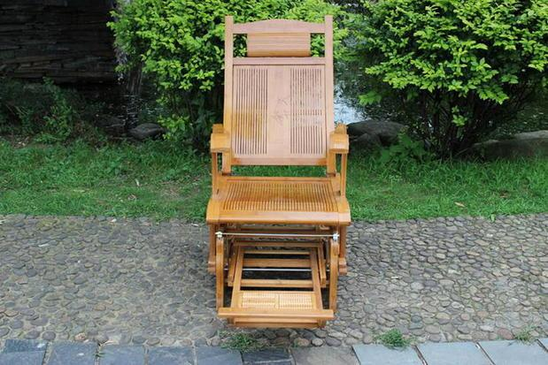 Pliage Bambou Chaise En Osier Chaises Bascule Inclinable Heureux Plein Air Balanoire Bois