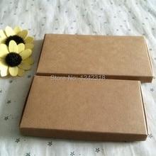 14.9*7.7*1.1 см DIY плотная пустой коричневый крафт-бумаги упаковочной коробки, scraf/babyware свадебный подарок упаковочные коробки