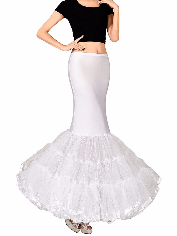 Frauen Trompete Meerjungfrau Braut Petticoat Krinoline Unterrock ...