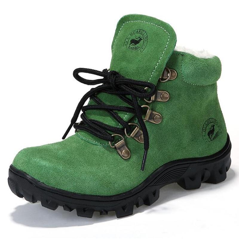 Niños botas de nieve de cuero genuino niños niñas zapatos de - Zapatos de niños