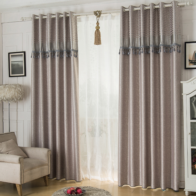 2016 jacquard shade window blackout curtain fabric modern for Living room curtain fabric