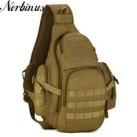 Norbinus Men Durable Nylon Sling Chest Bags Military Assault Water Bottle Male Bag Shoulder Crossbody Bag Rucksack Travel Pack
