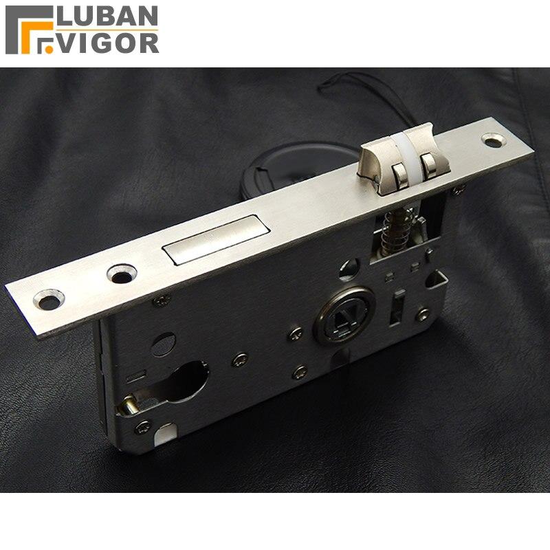 купить High quality,304 stainless steel 58 Pitch handle lock body,Nylon silent tongue Double pulley,Handle lock parts accessories по цене 1130.8 рублей