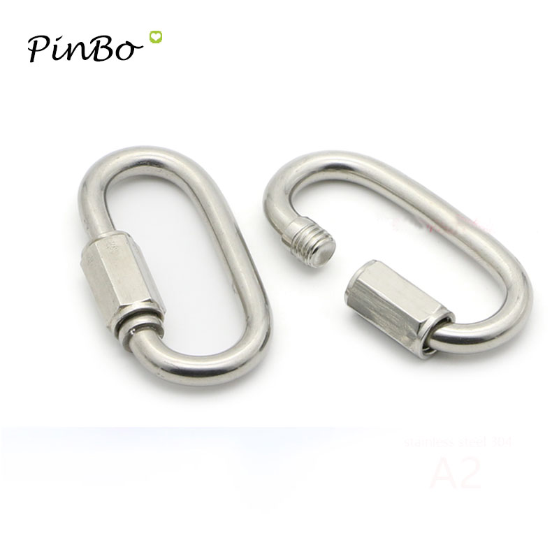 Locking Carabiner Screw-type Small Camping 10pcs Steel Marine Quick Practical