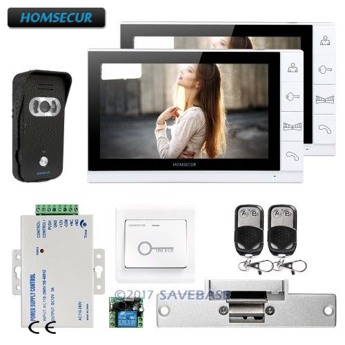HOMSECUR 9 Hands-free Video Door Entry Security Intercom with Outstanding Video&Audio Performance