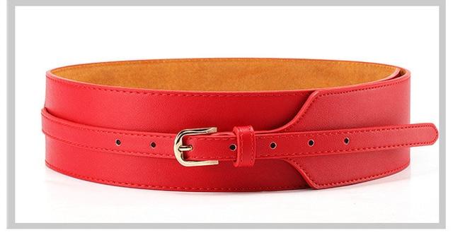 GEERSIDAN Fashion Wide Belts for Women dress retro leather belt girdle new wide belt female