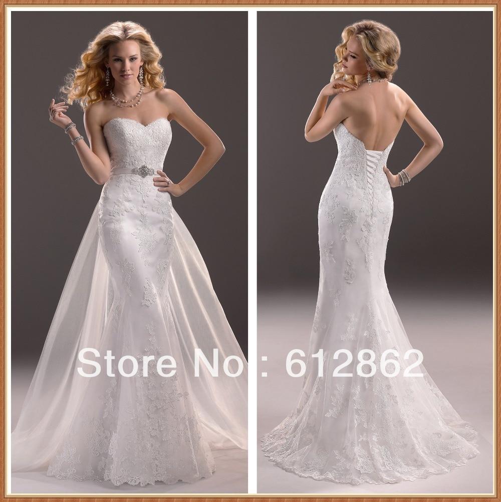 Buy strapless sweetheart neckline low for Wedding dress in stock