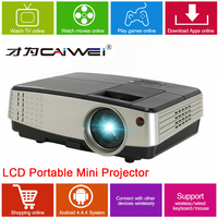 CAIWEI Home Theater Movie Portable Projector LED LCD 1080p Full HD Android TV Video Game HDMI Beamer for Phone TV PC Tablet