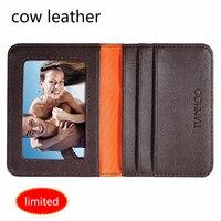 men's credit card holder genuine leather id card business holder card wallet