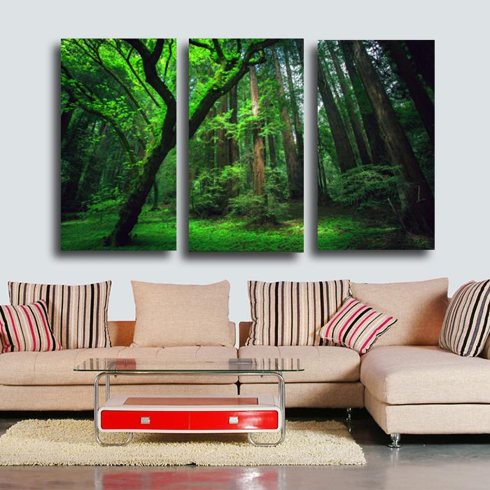 2017 3 Panels Forest Hd Canvas Print Painting Artwork Modern Home Wall Decor Art Picture On Prints In Calligraphy From Garden