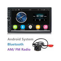 2 Din Android Car Stereo 7 Inch Touch Screen 1024 600 Quad Core 1GB 16GB Autoradio