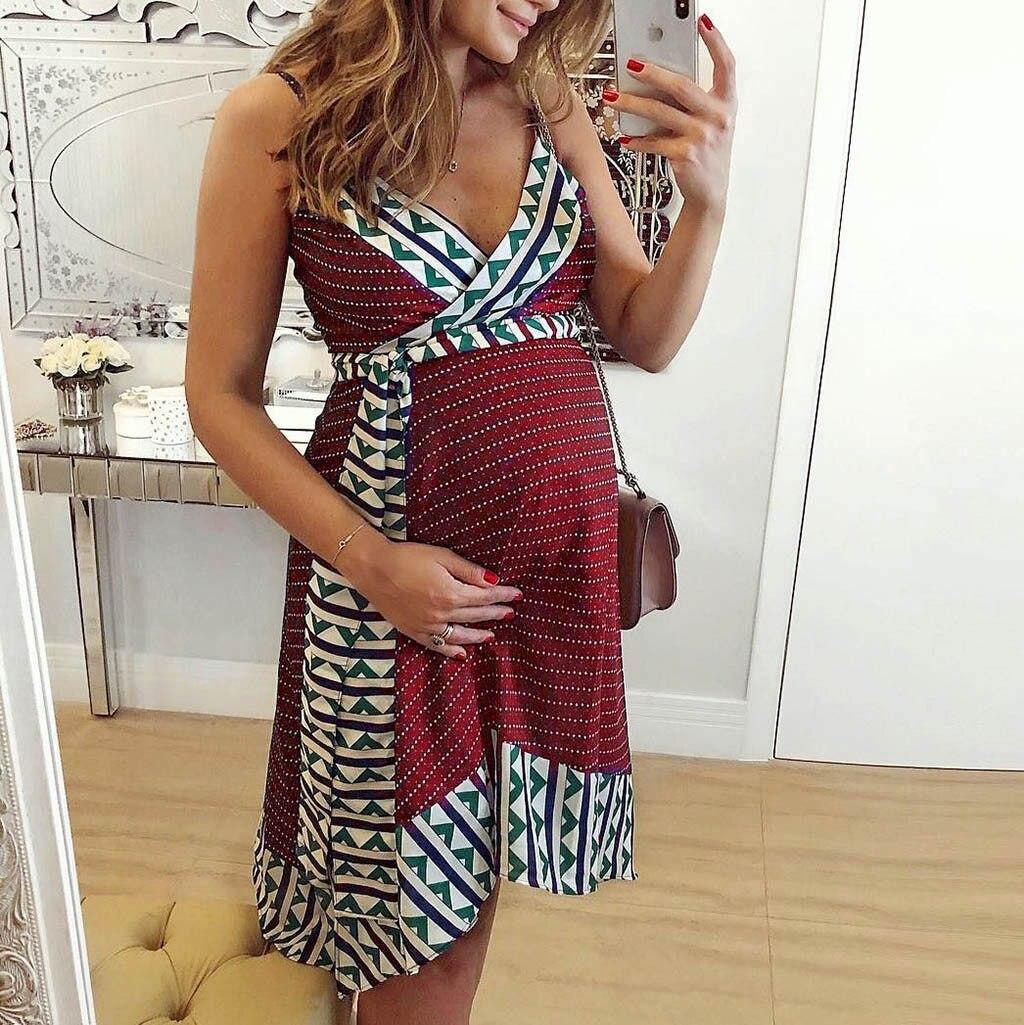 82f9fd27a5a2c Sexy Maternity Dress for pregnant women summer Fashion Sleeveless Off  Shoulder Long pregnancy dress premama vestido Dropshipping
