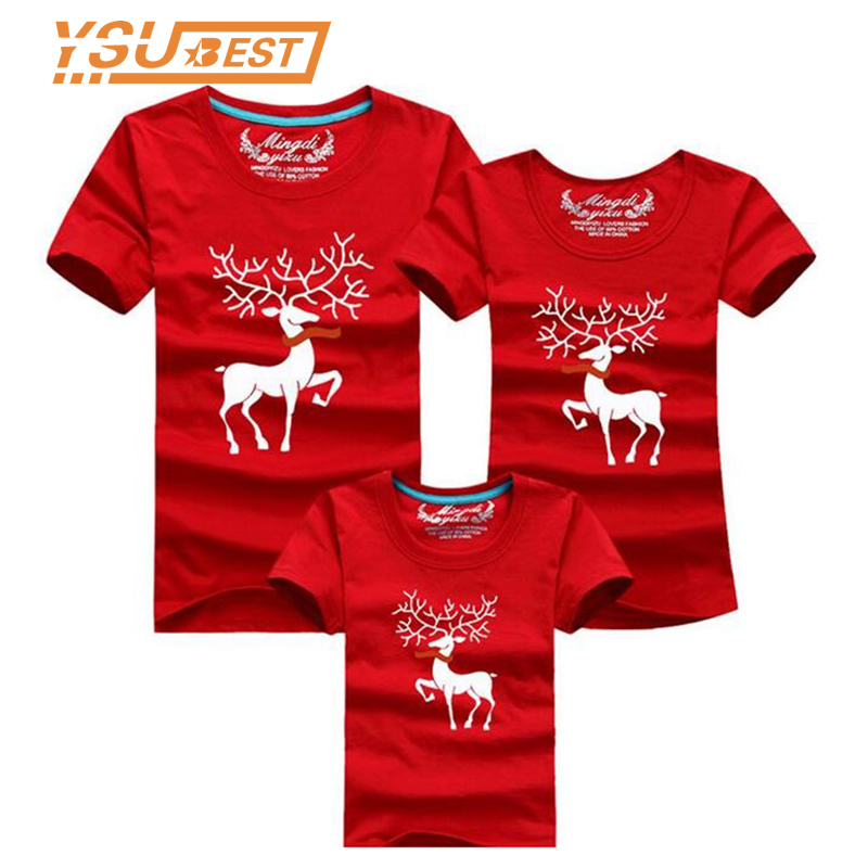 2019 Christmas Family Look Deer Mommy And Me Clothes Matching Family Clothing Mother Daughter Father Baby Matching Family Outfit