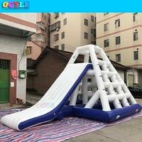 OCYLE FreeShipping L7*W5*H4m Custom Pool Float Water Park Slides Inflatable Waterpark Slide aqua park slide Titelansicht in mehr