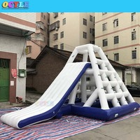 OCYLE FreeShipping L7*W5*H4m Custom Pool Float Water Park Slides Inflatable Waterpark Slide aqua park slide Titelansicht in mehr