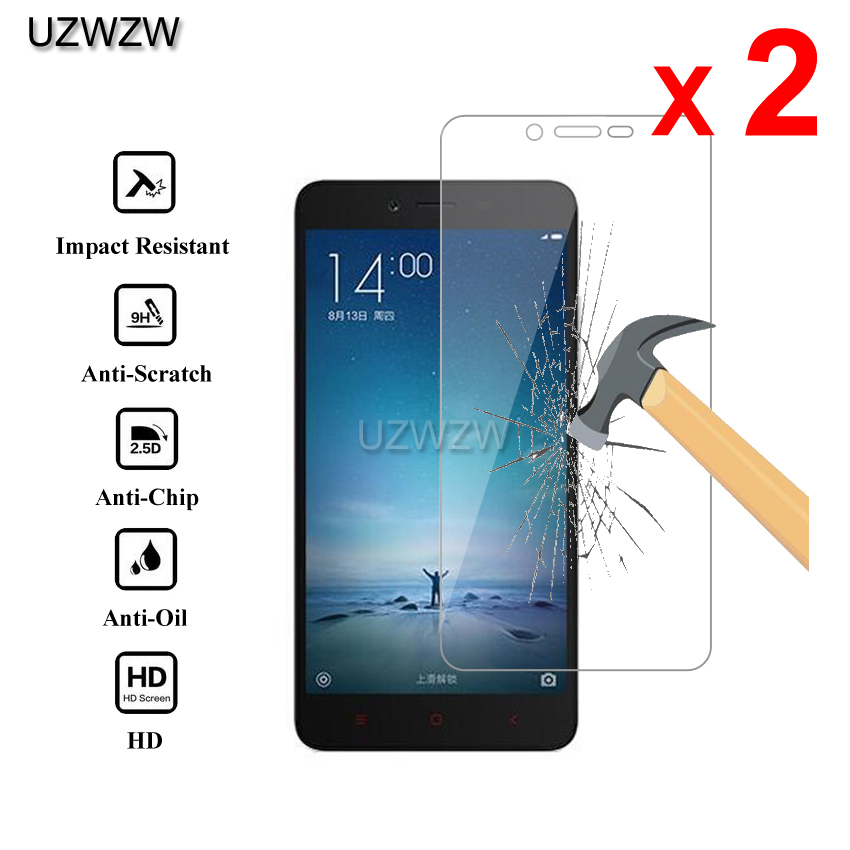 2pcs For Xiaomi Redmi Note 2 Premium 2.5D 0.26mm Tempered Glass Screen Protector For Xiaomi Redmi Note 2 Protective Glass