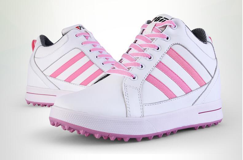купить Hot !PGM Adult Ladies Women Genuine Leather High Heel Golf Sports Shoes Light & Steady & Breathable &Waterproof.Free shipping по цене 4595.78 рублей