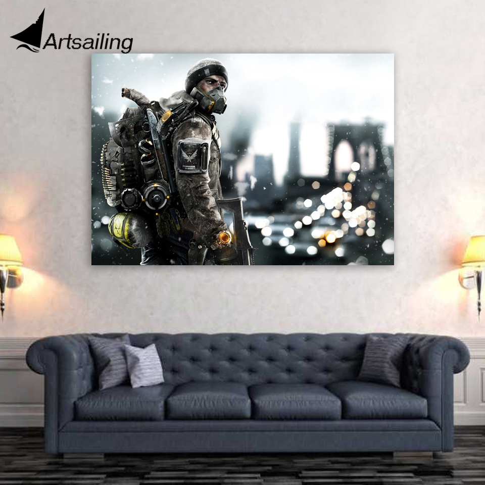 1 Piece Canvas Art Canvas Painting Warroir Fully Armed HD Printed Wall Art Home Decor Poster Pictures for Living Room XA1508C