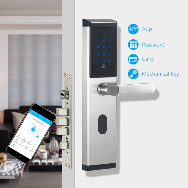 WiFi Digital Electronic Smart Door Lock App, Smart Home App Intelligent Bluetooth keypad Password Door Lock for Hotel Apartment