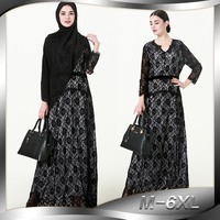 Muslim Abaya Arab Turkey Hot Spot Muslim Cardigan Print Robe Long Dress 1570