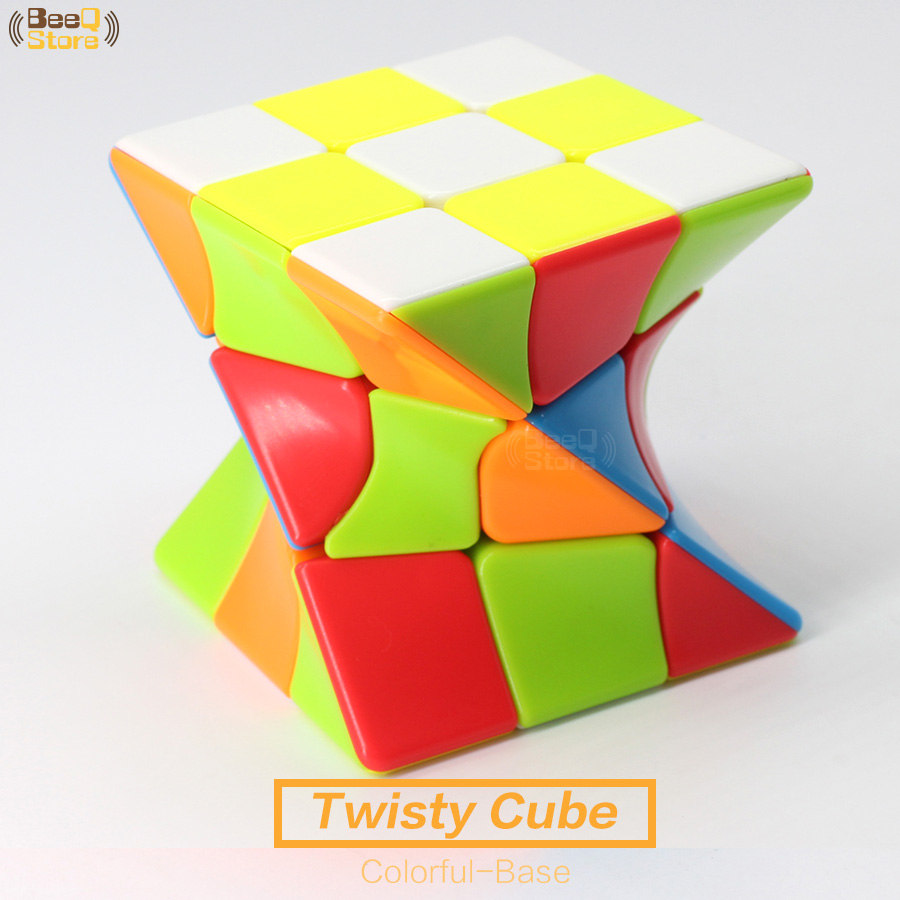 Twisty Cube Torsion Magic Cube Stickerless 3x3x3 Colorful Body Puzzle Cube 3x3 Strange-shape Cube Education Toys For Children