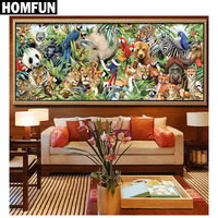 Full Square Round Drill 5D DIY Diamond Painting Zoo Animals 3D Embroidery Cross Stitch Mosaic Rhinestone