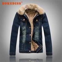 Men S Denim Clothing Jacket Fall Winter Clothes Men Denim Jackets Fur Collar Lamb S Wool