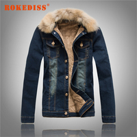 Men S Denim Clothing Jacket Fall Winter Clothes Men Denim Jackets Fur Collar Lamb S Wool