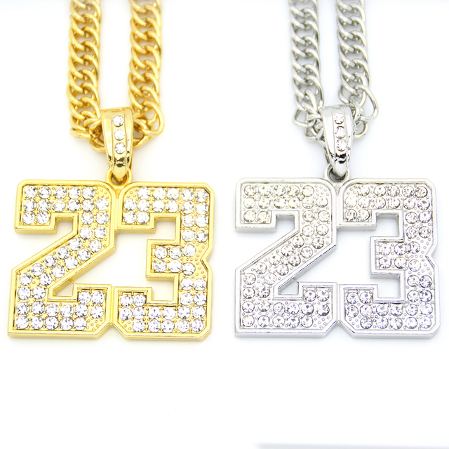 Iced out crystal men jewelry sport number pendants long chains hip iced out crystal men jewelry sport number pendants long chains hip hop necklace n547 aloadofball Images