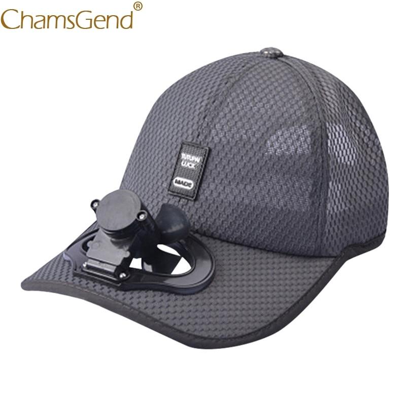 2019 Fashion Solid Color Cooling Fans   Baseball     Cap   Visor Casual Tide Unisex Adjustable Breathable Mesh Adult   Cap   Summer Hat 906