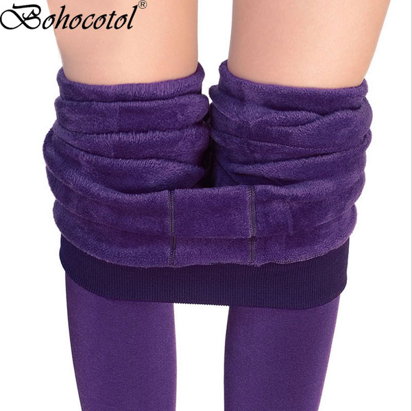 Step On The Foot Thick Pearl Fleece Winter Plus Velvet Thickening Legging Autumn And Winter Women's One Piece Pants Warm Pants