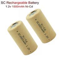 Ni-Cd аккумуляторная батарея SC 1,2 V 1500 mAh аккумуляторные батареи для электроинструментов батарея фонарик солнечные огни электронная игрушечна...