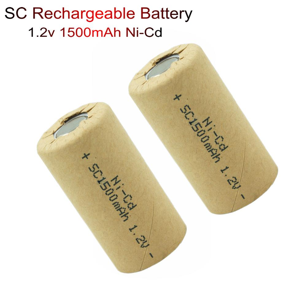 Ni-Cd Rechargeable <font><b>Battery</b></font> SC <font><b>1.2V</b></font> <font><b>1500mAh</b></font> <font><b>nicd</b></font> <font><b>Batteries</b></font> for Power Tools <font><b>Battery</b></font> Flashlight Solar Lights Electronic Toys lamp image