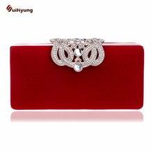 Neue frauen Kupplung Mode Crown Diamant Abendtasche Samt Hochzeit Braut Handtasche Kette Schulter Umhängetasche
