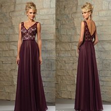 Aura Woman Free Customize 2015 Newest Sexy Sleeveless Sheer Deep-V Neck A-Line Tank Shoulder Lace Bodice Bridesmaid Dresses