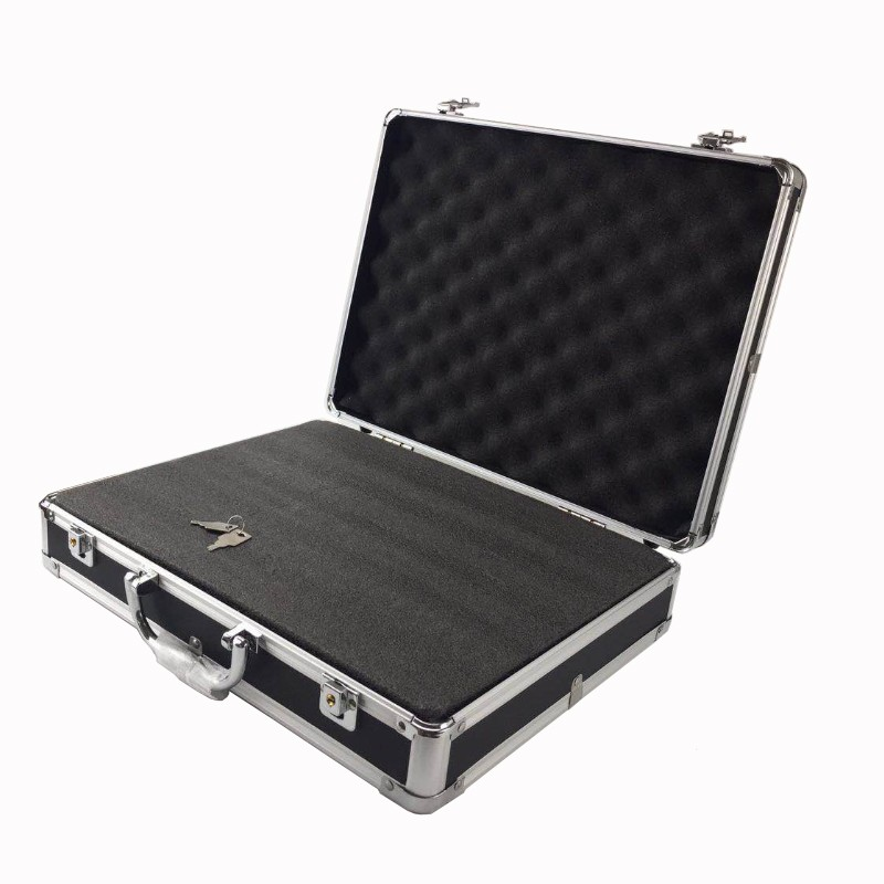 Tool Case Multi-function Aluminum Alloy Tool Box Suitcase File Box Impact Resistant Safety Instrument Box With Foam Lining