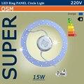 Led PANEL círculo luz del anillo 6 W 12 W 15 W 18 W 24 W 220 V SMD 5730 LED ronda de techo tablero de la lámpara circular para comedor