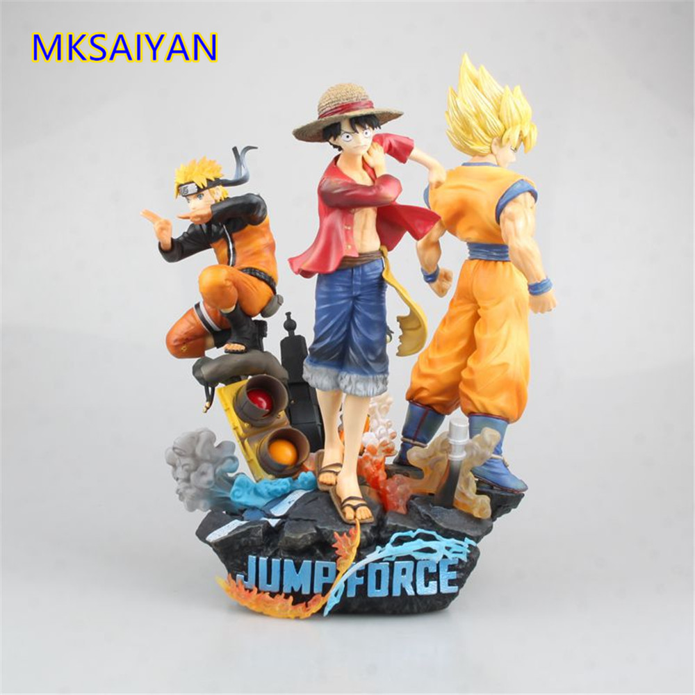 Anime Figure One Piece Jump Force Naruto Dragon Ball Z Game Goku Luffy Naruto Action Figurine Toys PVC Statue Brinquedos Doll image