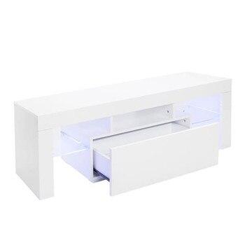 Элегантный домашний декоративный светодиодный шкаф для телевизора с одним ящиком для дома шкафа телевизора Тумба для телевизора гостиная