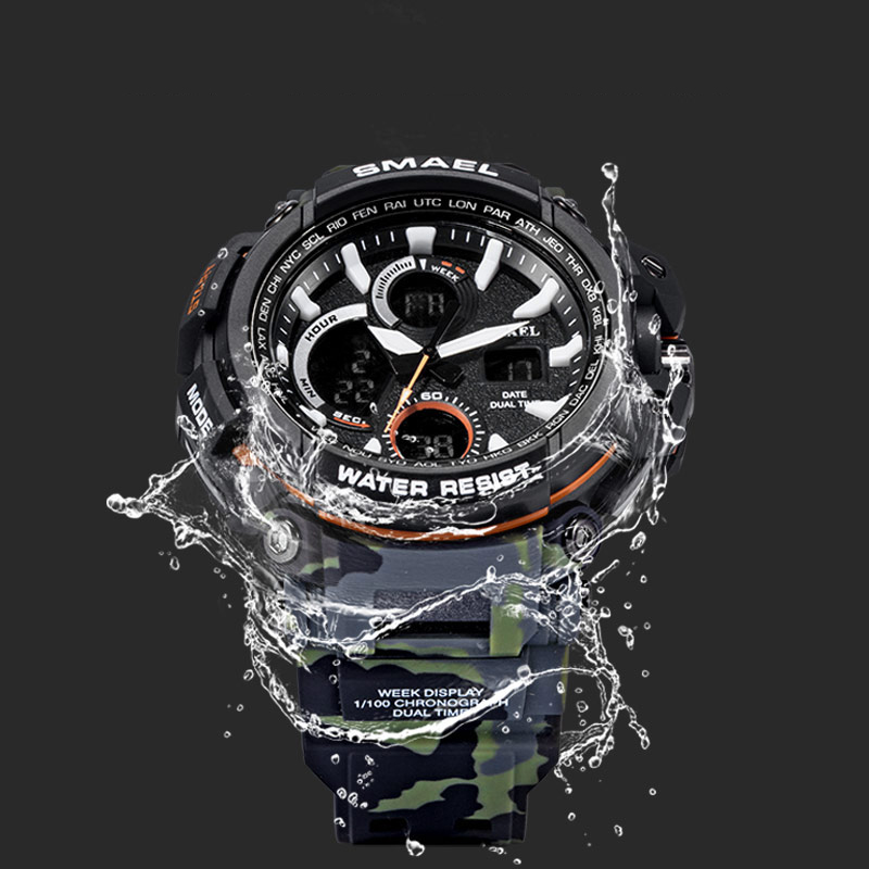 SMAEL Sport Watch Men 2018 Clock Male LED Digital Quartz Wrist Watches Men's Top Brand Luxury Digital-watch waterproof Relogio smael mens watches top brand luxury casual quartz watch men waterproof shock sport led digital watches men relogio masculino