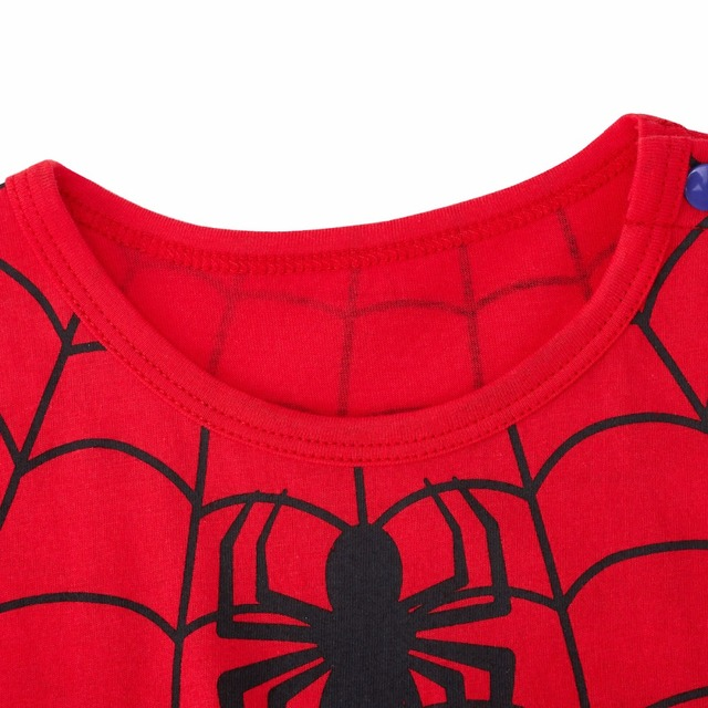 Bébé Garçon Spiderman Costume Barboteuse Infantile Fête Combinaison Combishort Nouveau-Né Une Pièce