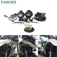 FADUIES 2psc 40W LED Auxiliary Fog Light Assemblies Safety Driving Lamp Motorcycle For BMW R1200GS F800GS LED fog Light