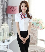 Professional Formal Uniform Style Female Pantsuits Tops And Pants Office Work Wear Suits Ladies Trousers Sets