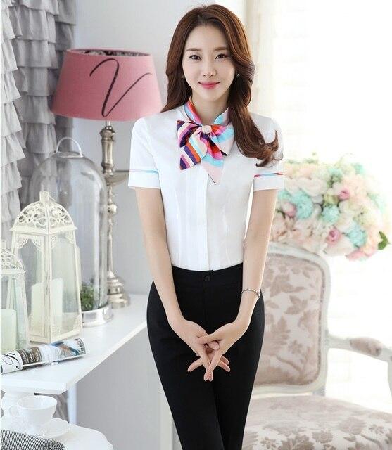 Profesional Estilo Uniforme Pantsuits Femenina Tops Y Pantalones de Trabajo de Oficina Formal Wear Trajes Damas Pantalones Conjuntos Pantalones Trajes Blancos