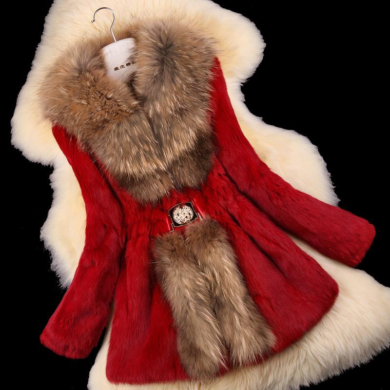 Autumn-Ladies-Natural-Rabbit-Fur-Coat-Jacket-Raccoon-Fur-Collar-Winter-Women-Fur-Trench-Outerwear-Coats (2)