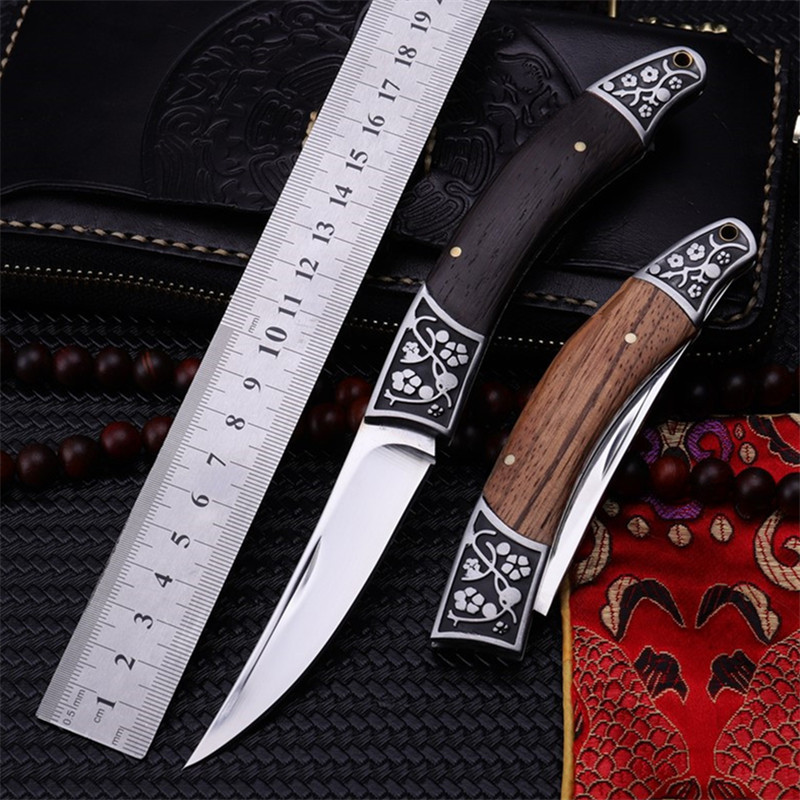 2018 New Free Shipping Outdoor Wood Handle Tactical Folding Knife High Hardness Wilderness Camping Survival Hunting Knives Tools2018 New Free Shipping Outdoor Wood Handle Tactical Folding Knife High Hardness Wilderness Camping Survival Hunting Knives Tools