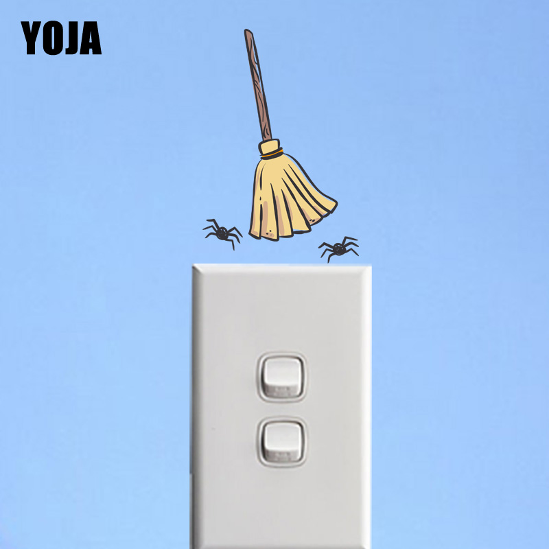 Yoja Interesting Spider Wall Sticker Colored Switch Decal Living Room Bedroom Home Decor Pvc 12ss0398 Home & Garden Wall Stickers