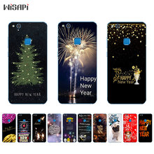 Silicone Phone Case For Huawei P10 Lite Shell for Huawei P10 Plus Back Cover Transparnet for Huawei Nova TPU Happy New Year(China)