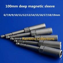 100 мм углубление с Магнитная гильза углубление ветер партия розетка электрическая дрель Электрический пневматический шестигранный рукав